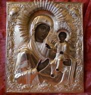 Иверская икона Б.М. общий вид после реставрации