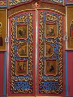 Царские врата иконостаса, Храм Воскресение Христова, Волоколамск