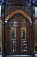 Царские врата Иконостаса Храма Равноапостольных братьев Кирила и Мифодия д.Кутьино Волоколамск р-он