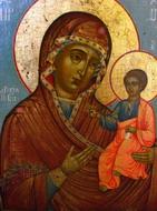 Иверская икона Б.М. после реставрации
