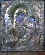 Иверская икона Б.М. до реставрации