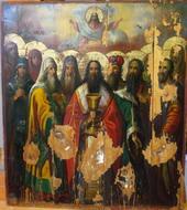 Святитель Василий Великий с предстоящими