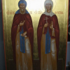 Family icon: Patron saints of marriage, Peter and Febronia